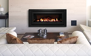 Image of a Gas Log Fire Heater in Brooklyn