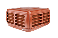 Image of an evaporative cooling unit suitable for Warrandyte