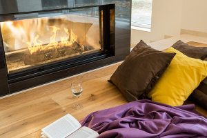 Gas Log Fires are perfect for a book and glass of wine in Aberfeldie