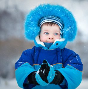 braemer heating for cold child in blue