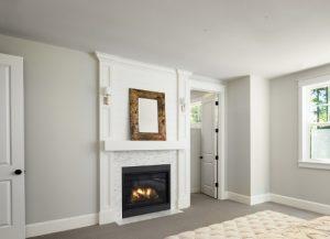 gas log fire bedroom